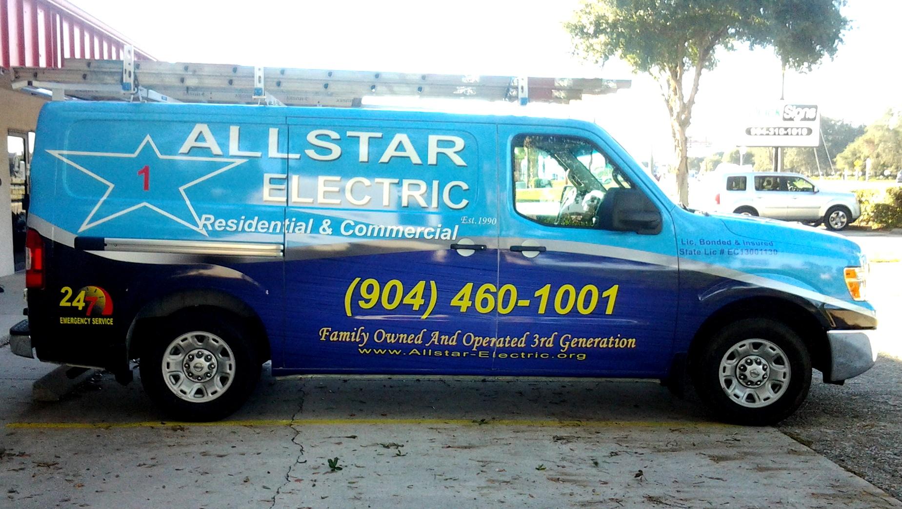 allstar electic van wrap