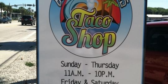 burrito works taco shop dibond sign