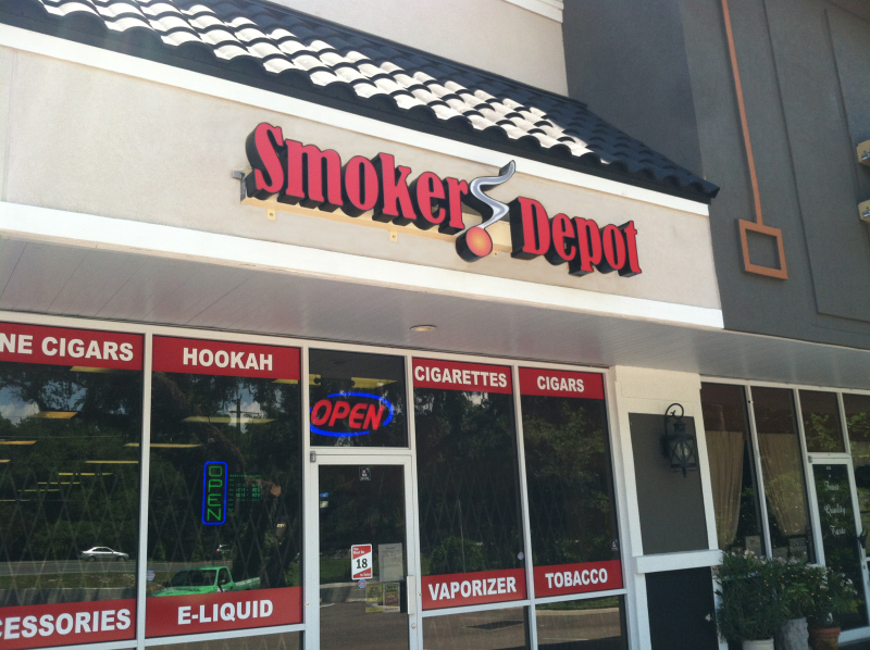 smokers depot channel letters